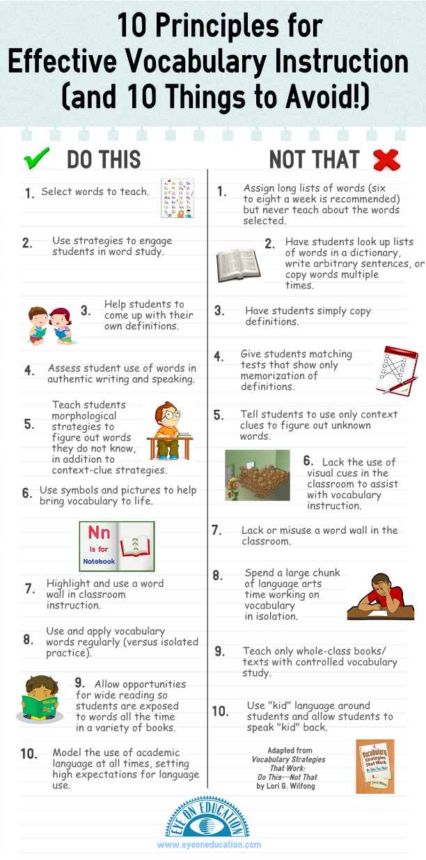 10 Principles For Effective Vocabulary Instruction Academic